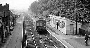 Newcastle & Carlisle Railway - A diesel train at Brampton station in 1962