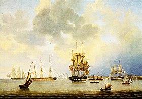 Bremerhaven, Reede 1848.jpg