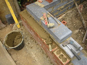Mortar (masonry) - Laying bricks with Portland cement mortar