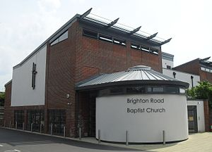 Horsham Unitarian Church - The chapel moved towards Unitarianism in the 19th century, but a new General Baptist cause was founded on the Brighton Road in the 1890s (present Brighton Road Baptist Church pictured).