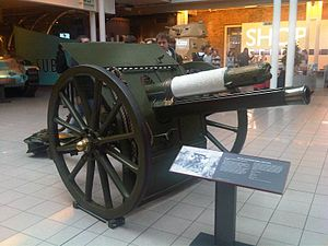 2nd Kent Artillery Volunteers - 18-pounder Mk II field gun at the Imperial War Museum.