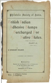British India Adhesive Stamps Surcharged For Native States, Part 2.djvu