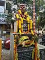 Bronze Statue of Shankara Nag, 80 feet Road, TippaSandra Entrance Bus Stop, Indiranagar, Bengaluru.jpg
