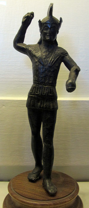 Laran - A statuette of the god Laran, depicted with traditional armour and a helmet.