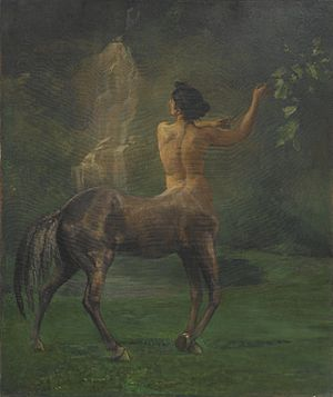 Centaurides - Centauress, by John La Farge, in the Brooklyn Museum