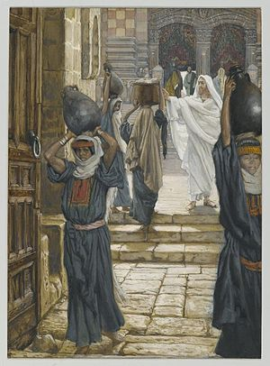 Jesus Forbids the Carrying of Loads in the Forecourt of the Temple