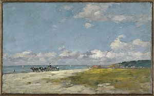 Trouville-sur-Mer - Image: Brooklyn Museum The Beach at Trouville (Trouville, La Plage) Eugène Louis Boudin overall
