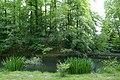 Brug naar eiland met grot in het kasteelpark van Wespelaar - 369427 - onroerenderfgoed.jpg