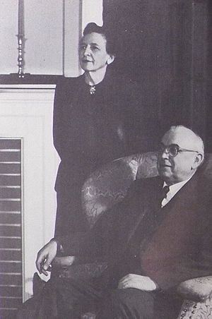 Aaron Brumbaugh - A.J. Brumbaugh and Ruth Sherrick Brumbaugh, at Shimer College c. 1952