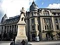 Bucuresti, Romania. Piata Universitatii. BANCA COMERCIALA ROMANA. Statuia lui Gheorge Lazar. 28 Iulie 2018.jpg