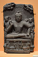 Buddha Offering Protection - Sandstone - ca 1st Century CE - Kushana Period - Ahichchhatra - ACCN 13694-A25024 - Indian Museum - Kolkata 2016-03-06 1545.JPG