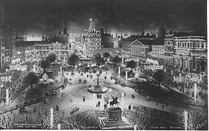 Argentina Centennial - Buenos Aires by night in 1910