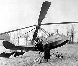 Buhl A-1 Autogyro - Pilot James Johnson and Etienne Dormoy in front of the Buhl A-1 autogyro