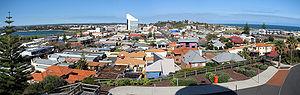 Bunbury, Western Australia - Panorama of Bunbury from lookout tower