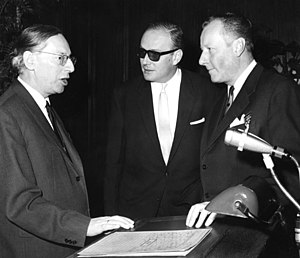 Adolf Arndt - Adolf Arndt, with Walter Krüttner and Jürgen Neven-DuMont.