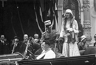 Umberto II of Italy - The Prince and the Princess of Piedmont in 1930