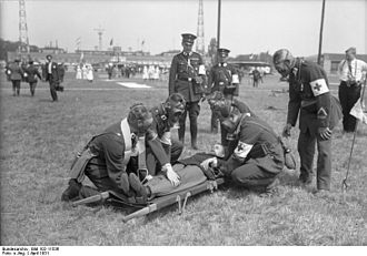 Paramedic - German Red Cross paramedics training in 1931