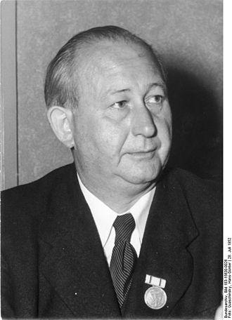 Schöneiche - Max Fechner in 1952