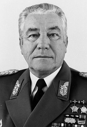 Ministry of National Defence (East Germany) - Army General Heinz Hoffmann in 1982: member of the Central Committee of the SED, Minister of National Defence and Chief of the NVA