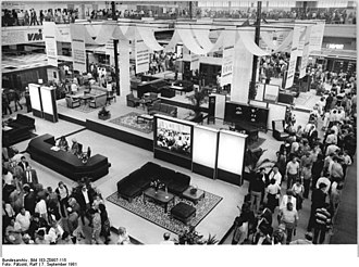 Leipzig Trade Fair - Stands of the GDR furniture industry at the autumn fair in 1981