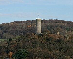 Der Burgberg aus Richtung Süden gesehen