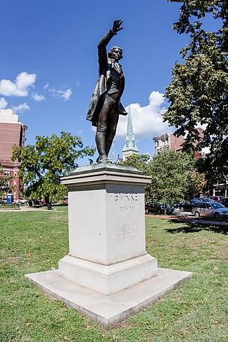 Edmund Burke (Thomas) - Image: Burke Statue full length angled by Steven Christe