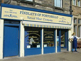 Portobello, Edinburgh - Butcher's shop in Portobello High Street
