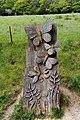 Butterfly sculpture, Pilgrims' Way, Ranmore.jpg