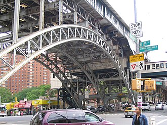125th Street (IRT Broadway–Seventh Avenue Line) - The station seen up close from Broadway.