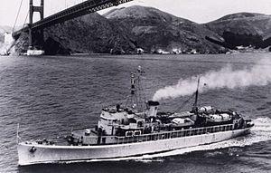 USS Mobjack (AGP-7) - Image: C&GS Ship Pioneer (1946) Golden Gate