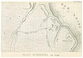 Odessa - Plan of Odessa in 1794