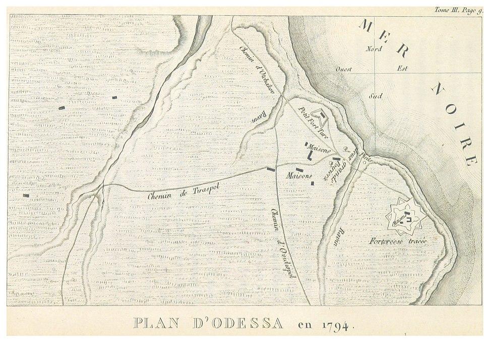 CASTELNAU(1827) p3.020 PLAN D' ODESSA EN 1794
