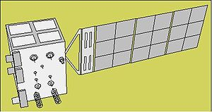CBERS-1 - Line drawing of the CBERS/ZY-1 spacecraft