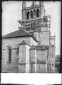 CH-NB - Lausanne, Cathédrale protestante Notre-Dame, vue partielle extérieure - Collection Max van Berchem - EAD-7285.tif