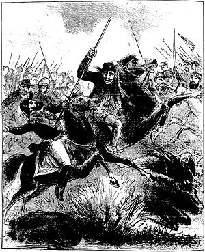 Battle of Cerro Corá - Corporal José Francisco Lacerda, known as Chico Diabo (Frank, the Devil), mortally wounding President Solano López with a spear.