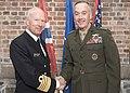 CJCS and Admiral Haakon Bruun-Hanssen, Norwegian Chief of Defence inspect Norwegian Honor Guard (37177580351).jpg