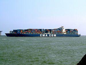 CMA CGM Don Giovanni 9305506 p1, leaving Port of Rotterdam, Holland 03-Jun-2007.jpg