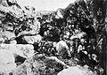 COLLECTIE TROPENMUSEUM Kalksteen dat als bouwmateriaal wordt gebruikt wordt gehakt uit kalkgebergte op Java. TMnr 60004748.jpg