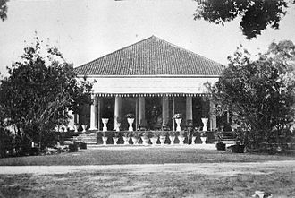 West Timor - House of the Dutch Resident in Kupang (c. 1900).