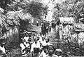 COLLECTIE TROPENMUSEUM Stoet trekt met een lijkentoren door een dorp tijdens een crematie op Bali TMnr 60030959.jpg