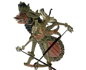 Damarwulan - Depiction of the villain Menak Jingga in a wayang klitik puppet.