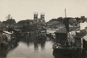 Church of St. Francis Xavier (Melaka) - Image of the church in 1930-1940