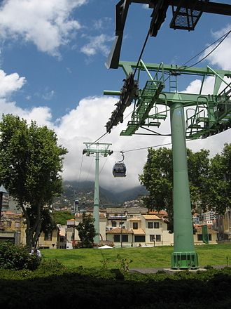 Monte (Funchal) - The Gondola lift attraction that ferries people up to Monte