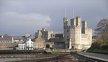 Caernarfon castle from the west.jpg