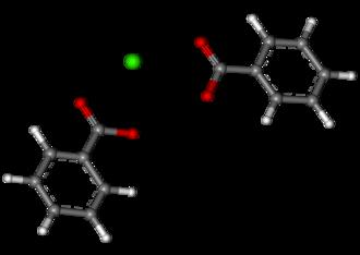 Calcium benzoate - Image: Calcium dibenzoate ball and stick