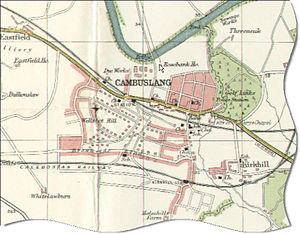 Cambuslang - Map of Cambuslang in about 1900