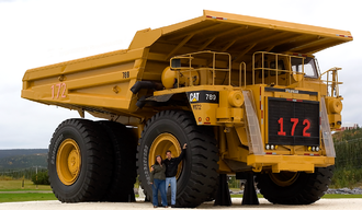 Honeywell Turbo Technologies - Garrett AiResearch formed AiResearch Industrial Division after getting an order to turbocharge 5,000 Caterpillar mining vehicles like the one depicted above.