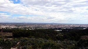 Campo de Cartagena - View of the Campo de Cartagena plain from the Collado Roldán.