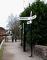 Canal Signpost, Fazeley Junction - geograph.org.uk - 713293.jpg