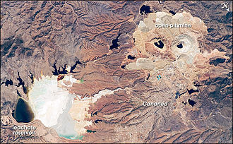 Aerial view of mines in Cananea Cananea mine.jpg